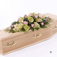 Rose, Orchid and Calla Lily Casket Spray *