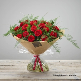 Happy Anniversary Heavenly Red Rose Hand tied.