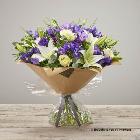 Purple Wishes New Baby Hand tied