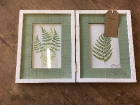 Double botanical picture frame